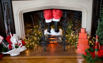 Why does santa come down the chimney